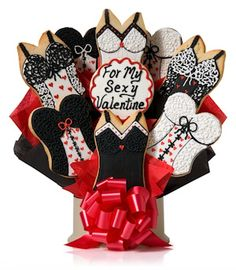 My Sexy Valentine Cookie Bouquet from Gourmet Cookie Bouquets