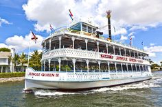 The Jungle Queen Riverboat jigsaw puzzle in Puzzle of the Day puzzles on…