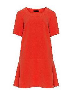 Kristine A-line dress van Manon Baptiste Dresses With Vans, A Line Cut, Kings Day, Orange Dress, After Dark, Flare Skirt, Well Dressed, Must Haves, Short Sleeve Dresses