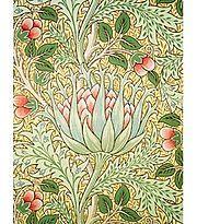 """Artichoke"" wallpaper, by John Henry Dearle for William Morris & Co., circa 1897 (Victoria and Albert Museum)."