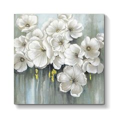 Abstract Blossom Floral Wall Art: Flowers Artwork Painting Print on Wrapped Canvas for Bedrooms x x 1 Panel) Flower Artwork, Art Flowers, Paintings Of Flowers, Floral Paintings, Flower Canvas, Flower Wall, Floral Wall Art, Canvas Artwork, Wall Canvas