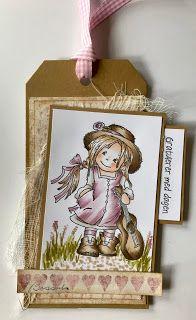 Kirstens Hobbyblogg: Her kommer en bursdag tag til! Copic Markers, Decorative Boxes, Tags, Colors, Frame, Pink, Colour, A Frame, Frames