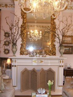 Decor, Fireplace Mantels, Sherrill, House, Home Decor, Room, Fireplace, Shabby Chic