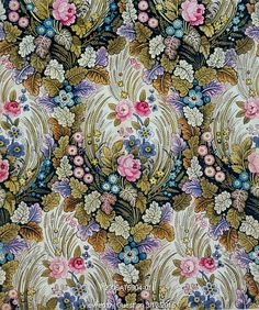 Flowered textile design, by William Kilburn. England, late 18th century
