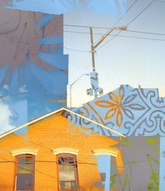 Mix media illustration by Randall Slaughter Series from a town called Cleveland