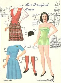 Mostly Paper Dolls: Miss Disneyland Cutout - 1965