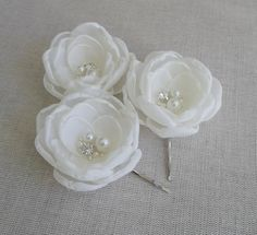 Ivory silk Bridal flowers Ivory head piece Ivory by ZBaccessory Ivory Bridal fabric hair flowers hair clips pins sew on bridal dress sash flowers bridal shoe clip flowers with pearls and crystals grips Bridal Flowers, Flowers In Hair, Fabric Flowers, Dress Sash, Hair Decorations, Flower Headpiece, Shoe Clips, Flower Hair Clips, Flower Dresses