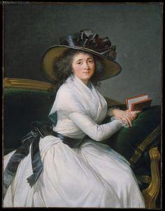 Marie Louise Perrette Aglaé Bontemps, Oil by Louise Elisabeth Vigée Le Brun (1755-1842, France)