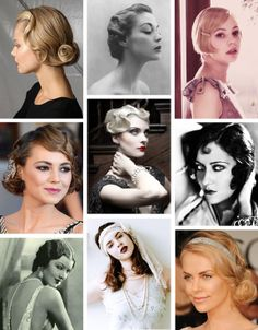 Beautiful 20s & 30s hairstyles @Meg Billing how about the blonde in the top left? Looks cute from the side...not sure about the front tho.(;