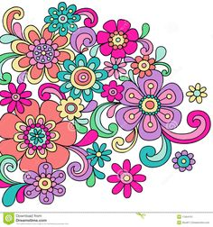 psychedelic-doodle-henna-flowers-vector-11564151.jpg (1300×1390)