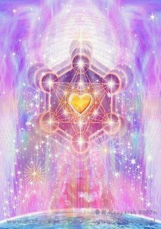 """""""Metatron's Cube. In sacred Geometry, the archangel Metatron oversees the flow of energy in a mystical cube, which contains all the geometric shapes in God's creation and represents the patterns that. Sacred Geometry Art, Sacred Art, Spiritus, Divine Light, Art Graphique, Visionary Art, Angel Art, Flower Of Life, Psychedelic Art"""