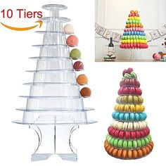 Acrylic & Plastic Macaron Stand  Code:  APM 35 Acrylic Plastic, Macaron Stand, Cake Stands, Crochet Hats, Different Cakes, Dessert Table, Macarons, Celebration Cakes, Desserts