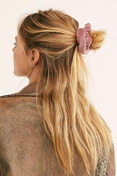 Softest Cord Scrunchie by Free People, #EasyElegantHairstyles Sporty Hairstyles, Trending Hairstyles, Elegant Hairstyles, Messy Hairstyles, Summer Hairstyles, Beautiful Hairstyles, Prom Hairstyles, Daily Hairstyles, Camping Hairstyles