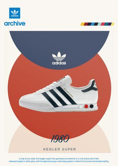 1980 adidas poster showing the new Kegler Super