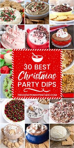 30 Best Christmas Party Dips 30 Best Christmas Party Dips - Get your holiday party started off right with these Christmas party dips. These festive Christmas appetizers will be a big hit with your guests., Check more at. Holiday Appetizers Christmas Parties, Christmas Party Food, Christmas Sweets, Christmas Cooking, Appetizers For Party, Holiday Treats, Christmas Fun, Holiday Recipes, Christmas Recipes
