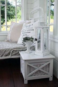 The Wicker House: New House / Room by Room Inspiration / Part 2 Cottage Chic, Cottage Style, Estilo Country, Sleeping Porch, Home And Deco, White Decor, My New Room, House Rooms, Coastal Decor