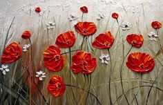 Hand-painted Abstract Oil Painting - Flower