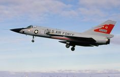 The Convair F-106 Delta Dart developed from the F-102 Delta is an American all-weather interceptor aircraft manufactured by Convair and General Dynamics. The F-106 Dagger designed as the ultimate interceptor was the cornerstone of strategic air defense for the United States from 1959 to 1987, it was fitted with a Pratt & Whitney J75 that could reach a top speed of mach 2.4. The maiden flight of the F-106 took place on the 26th of December 1956 and it went into service on June 1959.
