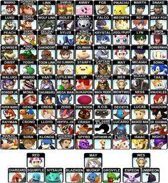 Supersmash bros characters