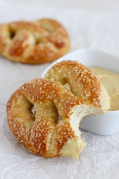 Soft Pretzels - homemade pretzels are easier to make than I ever thought and these are much better than the ones at the mall or ballpark! @thebakermama