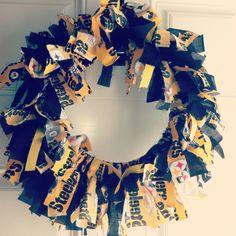 Steelers fabric wreath DIY