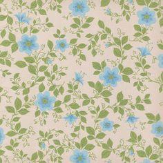 blue floral vintage