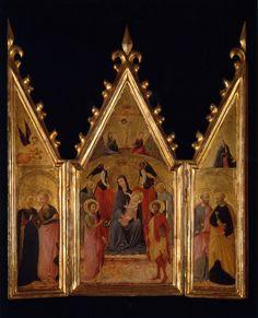 Pietro di Giovanni d'Ambrogio - Trittico a sportelli - tempera su tavola - 1444-1449 - Asciano, Castello di Gallico, collezione Salini