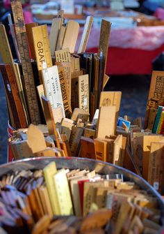 A selection of rulers at Schupp's Grove flea market.     www.cindywimmer.com