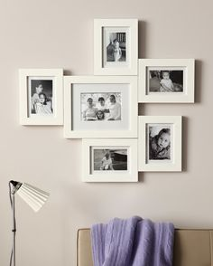 Create a custom piece by connecting frames with hardware called mending plates. Try monochromatic frames and black-and-white shots for a unified look, or an eclectic mix to liven things up.
