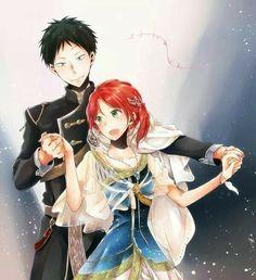 Akagami no Shirayukihime / Snow White with the red hair Manga Couple, Anime Couples Manga, Cute Anime Couples, Anime W, Anime Love, Hotarubi No Mori, Akagami No Shirayukihime, Snow White With The Red Hair, Kawaii