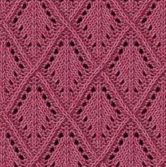 Узоры со схемами для любительниц вязания