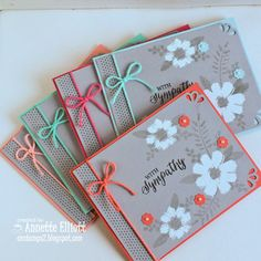 AEstamps a Latte...: Sympathy Card Set