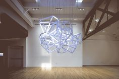 LED Sculpture that Converts Sound into Beautiful Lighting Effects – Cumulus - The Great Inspiration for Your Building Design - Home, Building, Furniture and Interior Design Ideas Creators Project, Interactive Installation, Digital Fabrication, Storm Clouds, Environment Design, Building Design, Lighting Design, Diy Furniture, 3d Printing