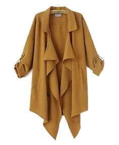 Pure Color Splicing Coat- I absolutely love this jacket style and color.  I ordered something similar in navy, but I think I need this too!