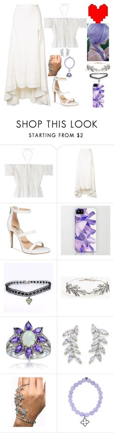 """""""Undertale Inspired"""" by lucy-wolf ❤ liked on Polyvore featuring Jonathan Simkhai, INC International Concepts, Jennifer Behr, Glitzy Rocks, Carolee and Sydney Evan"""