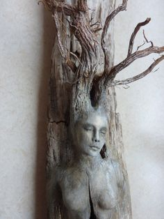 Debra Bernier | Spirit Tree Woman with Stones by Shaping Spirit