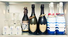 """""""My fridge has nothing in it. Dom P, Chandon, sake and sparkling water. Maybe some cheese in there sometimes. It's a very clean fridge!"""" http://www.thecoveteur.com/brendan-monaghan-t-magazine/"""