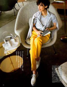 Precious 2015\06 配色の天才がおすすめする、コーディネートが見違える3大カラーはネイビー、イエロー、そして○○! - Woman Insight | 雑誌の枠を超えたモデル・ファッション情報発信サイト