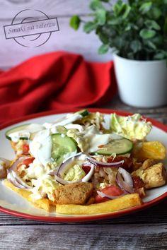 Kapsalon – Holenderski fast food – Smaki na talerzu Chimichanga, Calzone, Sweet Potato, Menu, Snacks, Cooking, Ethnic Recipes, Food, Marcel