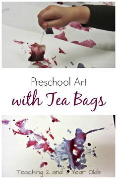 Preschool Art with Tea Bags - Teaching 2 and 3 Year Olds Really want fantastic hints about arts and crafts? Kids Crafts, Preschool Art Projects, Toddler Crafts, Toddler Activities, Preschool Activities, Arts And Crafts, Process Art Preschool, Preschool Art Lessons, Emotions Preschool