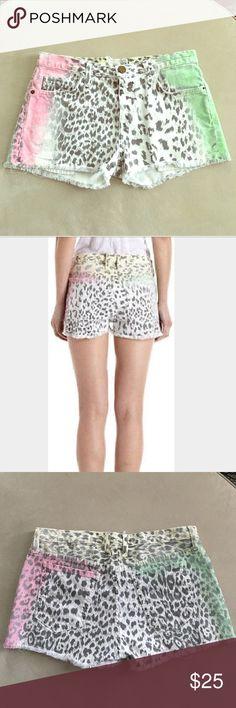 Current/Elliott Boyfriend Shorts Multi airbrush Shorts! In good condition! Current/Elliott Shorts Jean Shorts