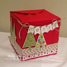 Bee Divine Designs - Gift box punch board.