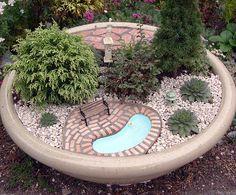 pond in a fairy garden