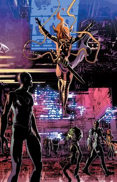 Anngela in Guardians of Knowhere #1 - Mike Deodato Jr., Color -Frank Martin