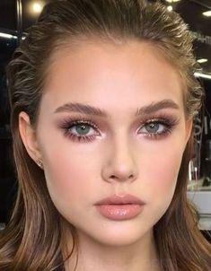 How do I get a soft glam makeup look - stylish soft makeup lo . - How do I get a soft glam makeup look – stylish soft makeup look – # get - Bridal Makeup For Brown Eyes, Peach Makeup Look, Burgundy Makeup Look, Purple Makeup Looks, Vintage Makeup Looks, Soft Makeup Looks, Creative Makeup Looks, Glam Makeup Look, Fall Makeup Looks