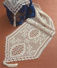 Manteles de ganchillo: Fotos de patrones y diseños - Mantel de mesa elaborado en crochet
