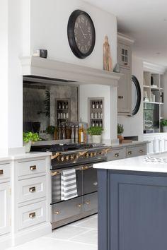 the blue painted kitchen interior design kitchen diner extension 1 Small Cottage Kitchen, Home Decor Kitchen, Interior Design Kitchen, New Kitchen, Home Kitchens, Kitchen Dining, Kitchen Mantle, Island Kitchen, Kitchen Diner Extension