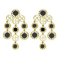 Charm & Chain | Onyx Bib Chandeliers - Earrings - Jewelry
