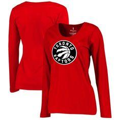 Toronto Raptors Fanatics Branded Women's Plus Size Primary Logo Long Sleeve T-Shirt - Red - $31.99