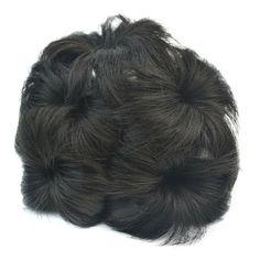 Wig Flower Hair Pack with Tuck Comb Bun hair cap - brown black HDFB-4#